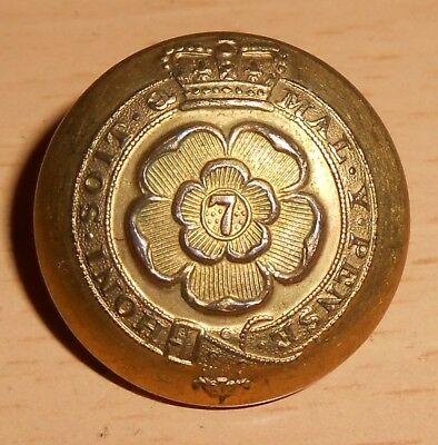 Rare 7Th Royal Fusiliers Officers Coatee Gilt Button 1840