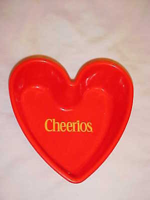 2001 Cheerios Heart Shaped Cereal Bowl