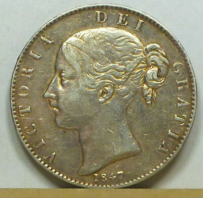 Great Britain Crown 1847 VF/Extremely Fine