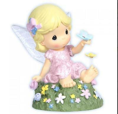 Precious Moments Fairy w Butterfly Heart A Flutter LED Wings Light Up Retired