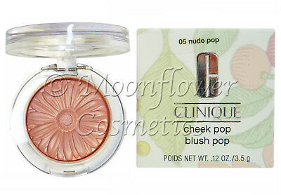 Clinique Cheek Pop Blusher ♡ NUDE POP ♡ Silky Smooth Blush Powder Compact BOXED