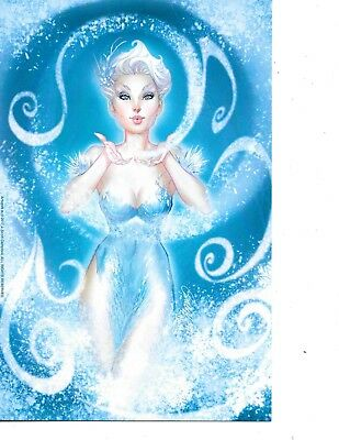 Winter Queen 2017 J.Scott Campbell Exclusive Holiday Comic Print Greeting Card