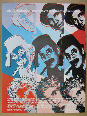 1980 Andy Warhol Marx Brothers portrait silkscreen offer vintage print Ad