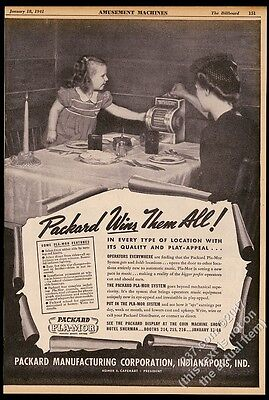 1941 Packard Pla-Mor restaurant table top jukebox photo vintage trade print ad