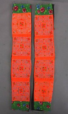 Two Tribal Fabric Clothing Decoration Pieces Hmong