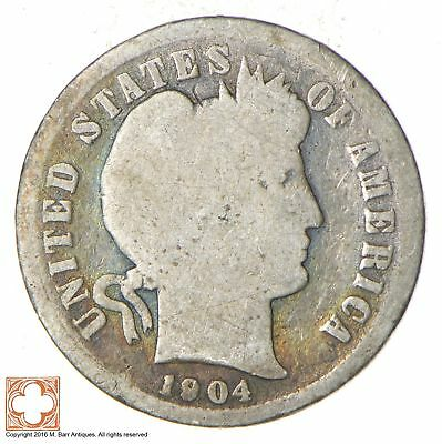 BETTER Date - 1904-S Barber Dime - Look it up! *890
