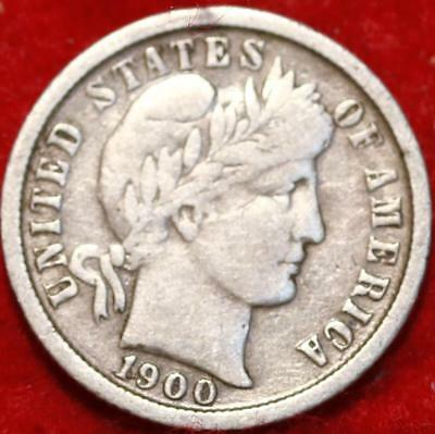 1900-O New Orleans Mint Silver Barber Dime Free Shipping