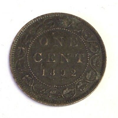 1892 Canada One Cent, Victoria, Canadian Large Cent