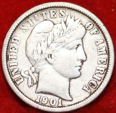 1901-O New Orleans Mint Silver Barber Dime Free Shipping