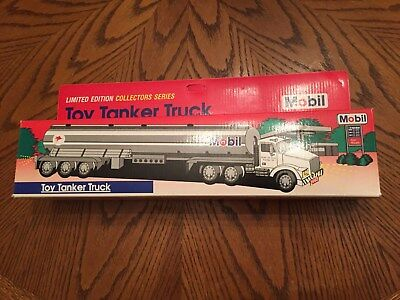 """1993 Mobil Toy Tanker Truck Limited Edition 14"""" Length NIB FREE SHIPPING"""
