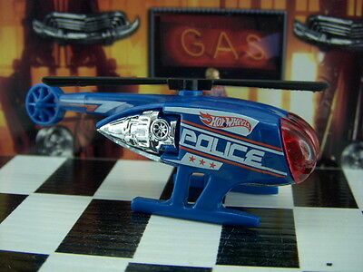 '15 Hot Wheels Killer Copter Police Helicopter Loose 1:64 Scale Hw City Series
