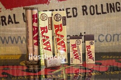 Authentic Raw Rolling Paper King Size Collection Machine+Papers+Tips+Hemp Wick