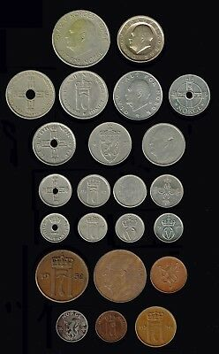 NORWAY:- 23 different early - late  20th century coins. AP6353