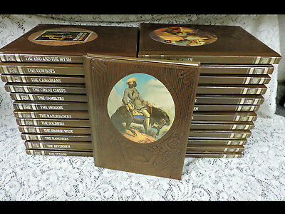 Time Life Books THE OLD WEST Series - Leatherette Bound - 25 Volumes - EUC