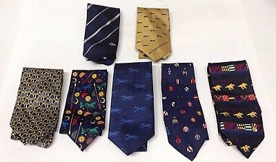7 Great Horse Racing Ties - 3 Slipper, Cox Plate, Spring, Harness + General!