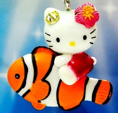 Hello Kitty X Okinawa Clown Fish Swarovski Elements Crystals Japan Charm Pendant