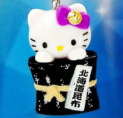 Hello Kitty X Hokkaido Sea Kelp Swarovski Elements Crystal Japan Charm Pendant