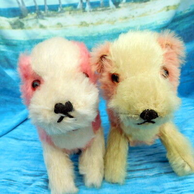 Beautiful antique vintage old teddy bear dogs Chiltern & Chad Valley Collectable