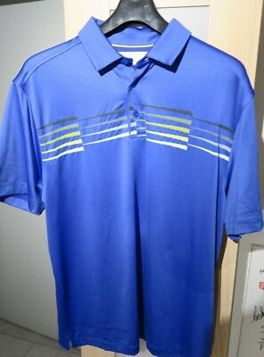 Under Armour coldblack ACE, Golf Polo, Gr. L, Blau mit Frontprint