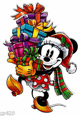 "6.5"" Disney minnie mouse christmas holiday wall safe sticker border cut out"