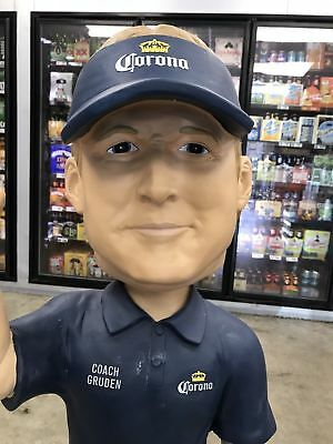 Jon Gruden Giant 4ft Tall Corona Extra Beer Bobblehead NEW IN BOX Bar Man Cave