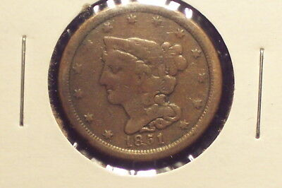 1851 Half Cent -- Very Good condition