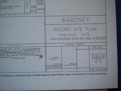After The Battle Then & Now Airfield Plan  Bardney   Battle Of Britain