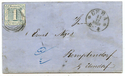 AD Thurn & Taxis Brief Gera Remptendorf 1860