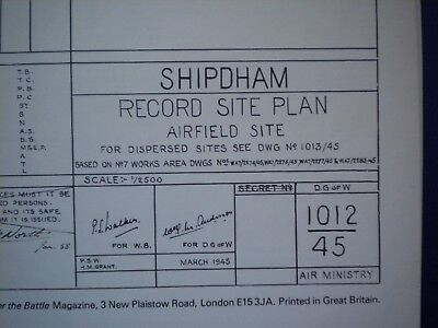 After The Battle Then & Now Airfield Plan Shipdham  Battle Of Britain