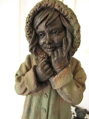genesis ireland cold cast bronze very rare sculpture off to nans 10.5 in 2002