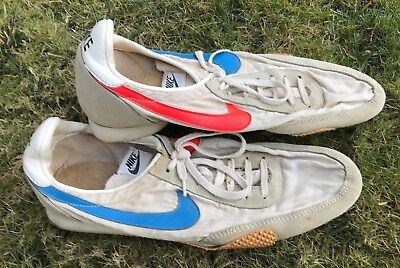 RARE Vtg 1970's NIKE Prototype Multi Colored Running Track Spikes Shoes 11 USA