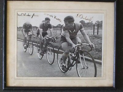 Cycling Memorabilia Autographed,framed Photo