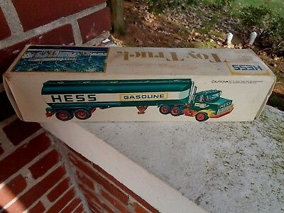 Vintage Early Hess Toy Tanker Truck Box Only With Insert