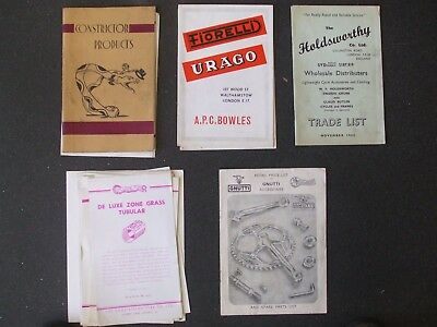 Cycling Memorabilia  Trade Catalogues Range 1948 - 1962