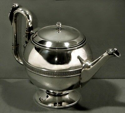 "Gotham Silver Teapot       c1860   "" Civil War Era ""        Medallion Handle"