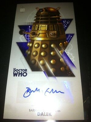 """TOPPS Dr Who OVERSIZED 2.5X4.75"""" Autograph  BARNABY EDWARDS Dalek-Not Signature"""
