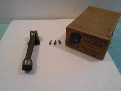 NOS Glynn-Johnson Hercules Vintage Cast Bronze Door Holder No 5