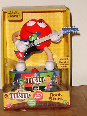 M & M Candy Musical Rock Star Red on Guitar! Rocking Holiday Gift! New!