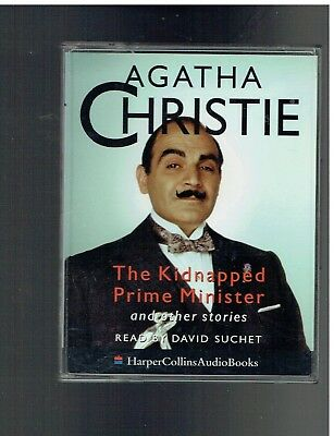 Agatha Christie The Kidnapped Prime Minister 2Cassette David Suchet Reads