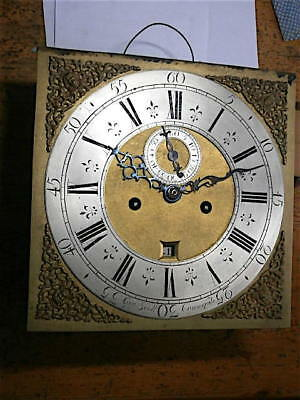 12+12 inch 8day  c1750 LONGCASE  CLOCK dial + movement