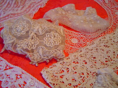 Antique Lace Large Lot Collars And Salvaged Clothing Trims