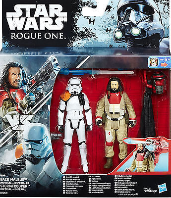 Star Wars Rogue One Baze Malbus & Imperial Stormtrooper Von Hasbro /disney