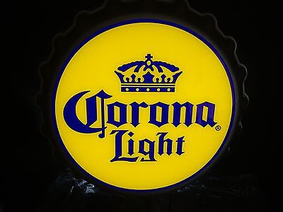 Corona Light Beer Sign LED Bottle Cap Bar Pub Beach Tiki Man Cave New!!
