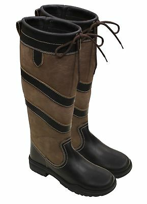 "New** Harry Hall Rio "" Long Waterproof Country Riding Boots Size 3 ,5, 6, 6.5, 7"