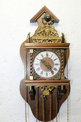 Old Wall Clock Dutch Zaandam Zaanse wall Clock Orologio WARMINK WUBA*