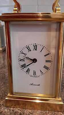 Ainsworth Carriage Clock English Made 11 Jewels Fema London