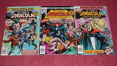 TOMB OF DRACULA lot - 5 issues, #s 53-57 (Marvel, 1977) NR!