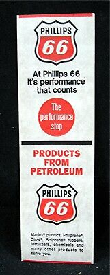 Phillips 66 The Performance Stop & Products From Petroleum 2 Different Gum Label