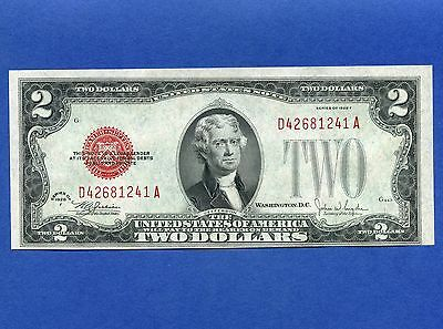 1928 United States 2 Dollar Uncirculated Bank Note S/N D42681241A
