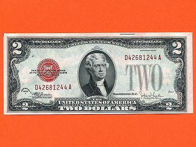1928 United States 2 Dollar Uncirculated Bank Note S/N D42681244A